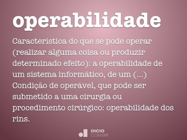 operabilidade
