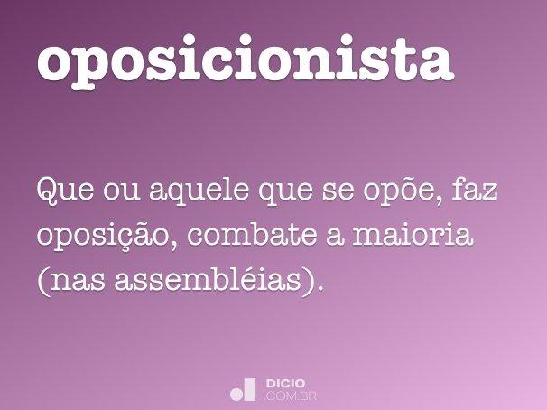 oposicionista