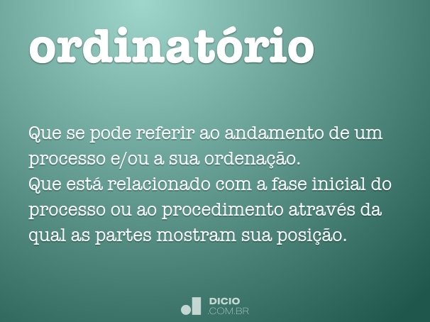 ordinat�rio