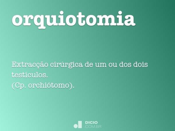 orquiotomia