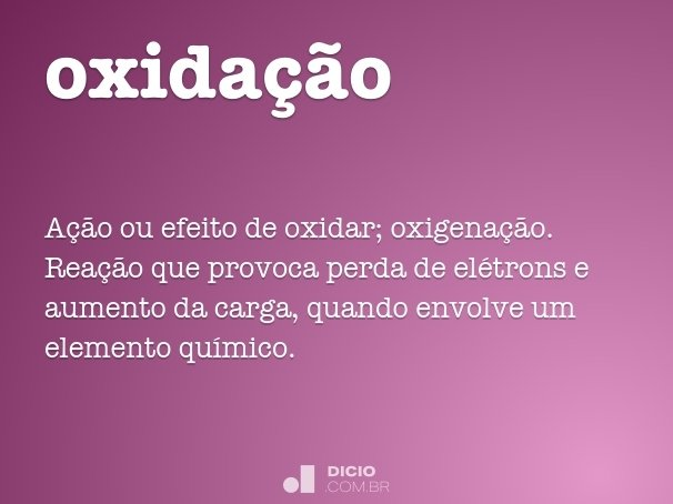 oxida��o
