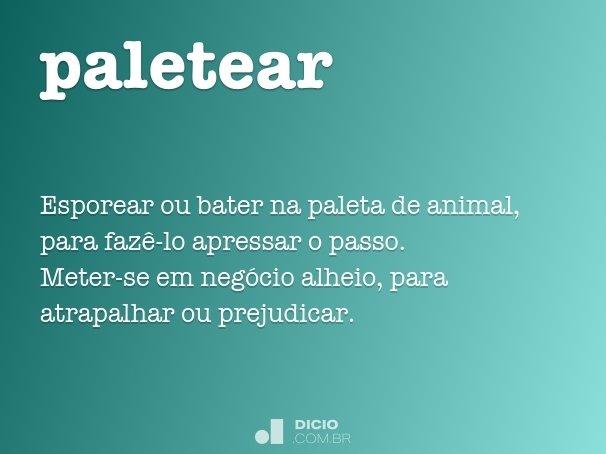 paletear