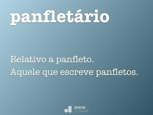 panflet�rio