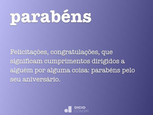 parab�ns