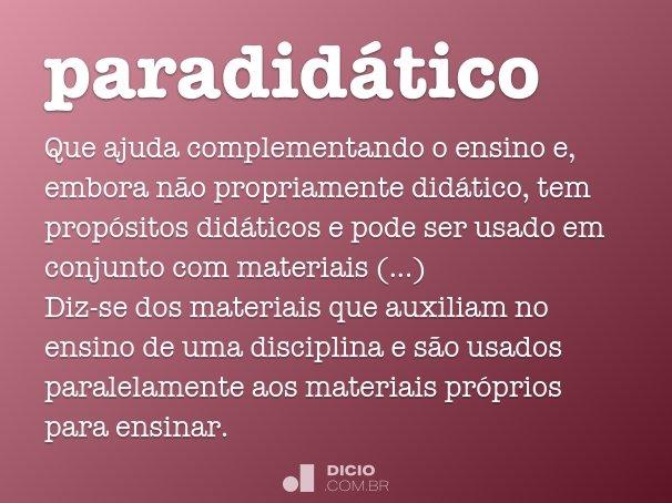 paradidático