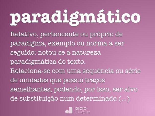 paradigmático