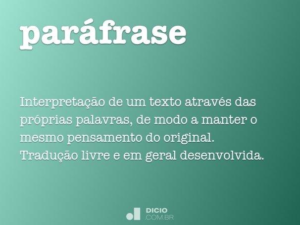 par�frase