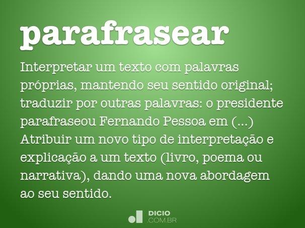 parafrasear