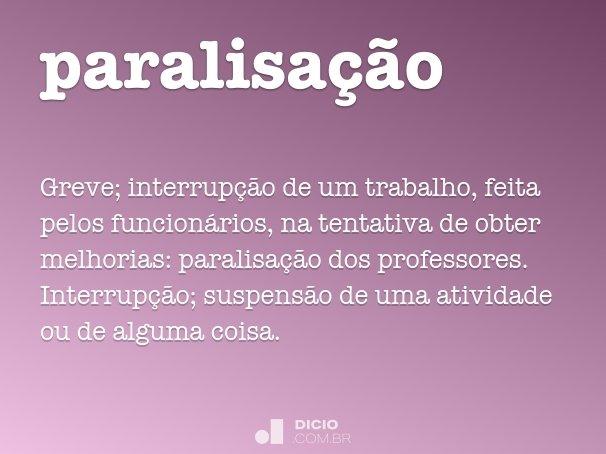 paralisação