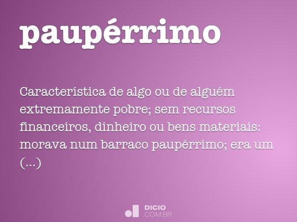 paupérrimo