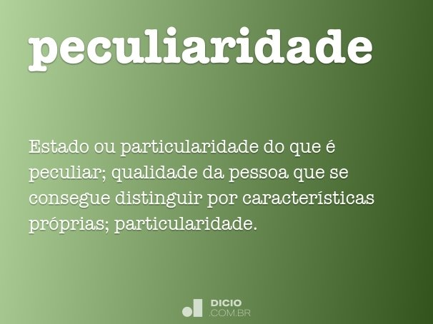 peculiaridade
