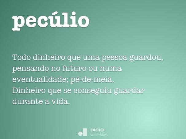 pecúlio