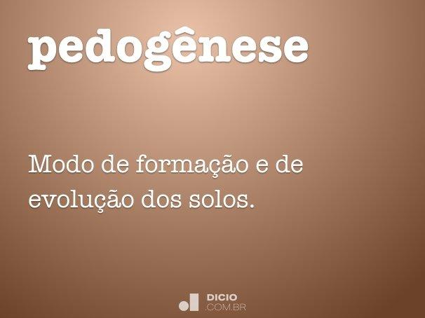 pedog�nese