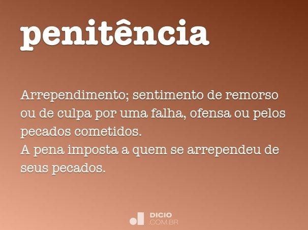 penit�ncia