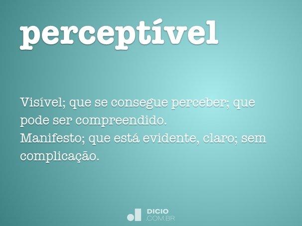 percept�vel