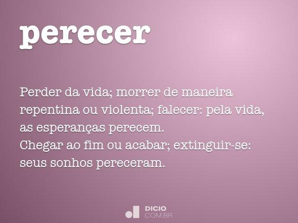 perecer
