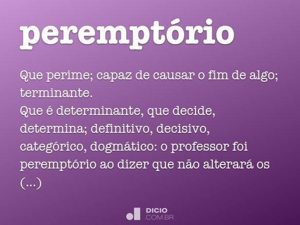perempt�rio