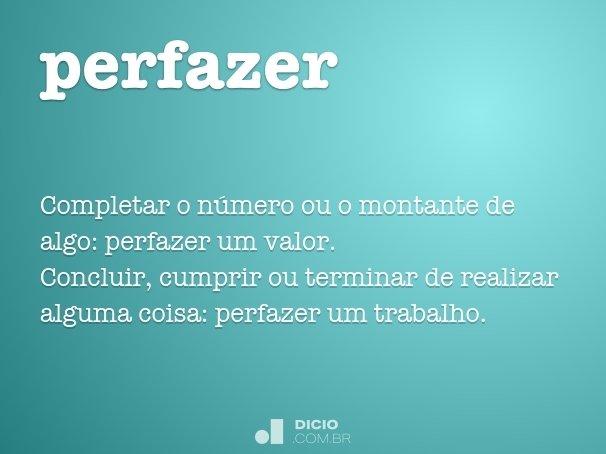 perfazer