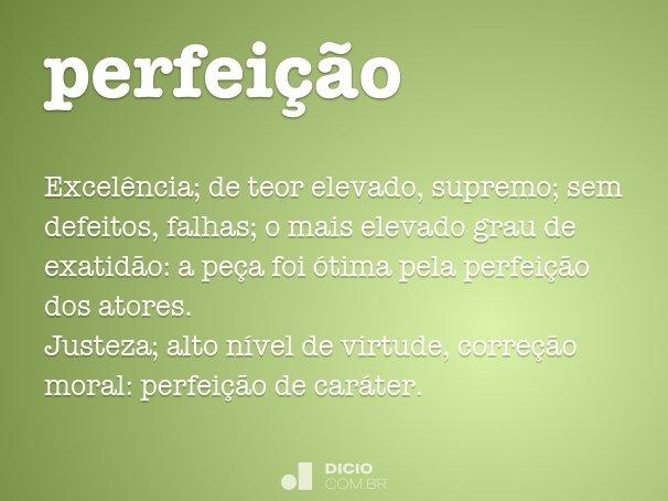 perfei��o