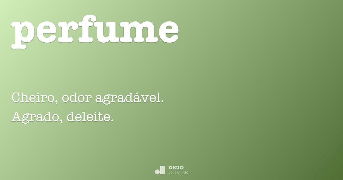 Perfume Dicio Dicionário Online De Português