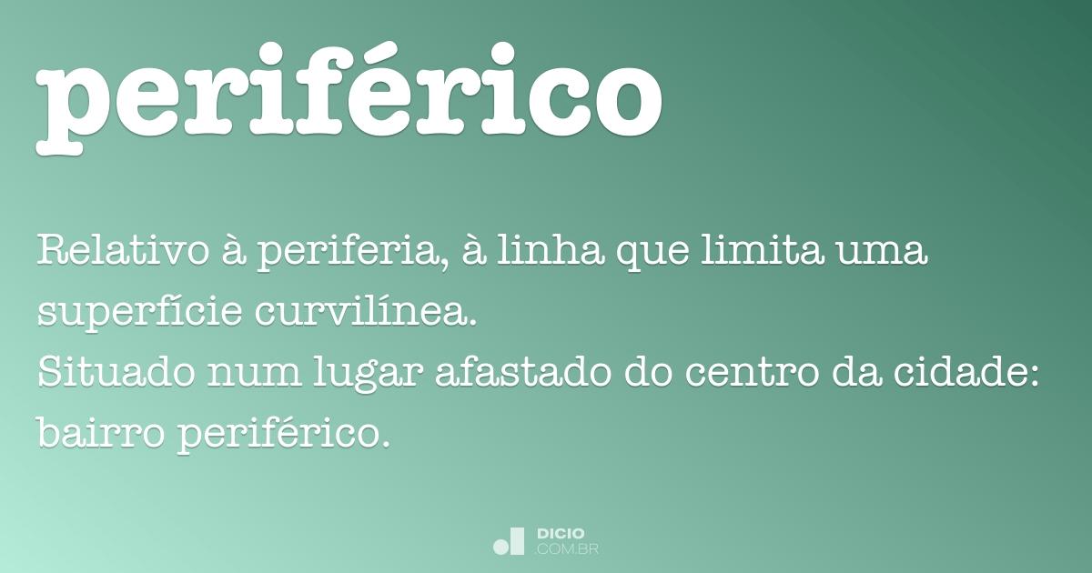 Perif rico dicion rio online de portugu s for Exterior relativo