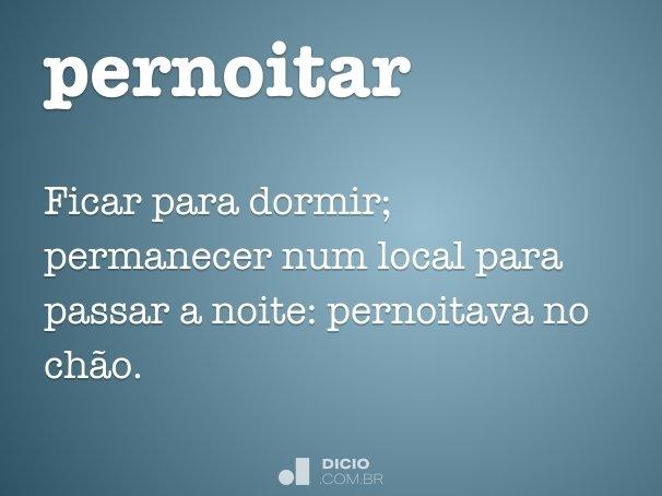 pernoitar