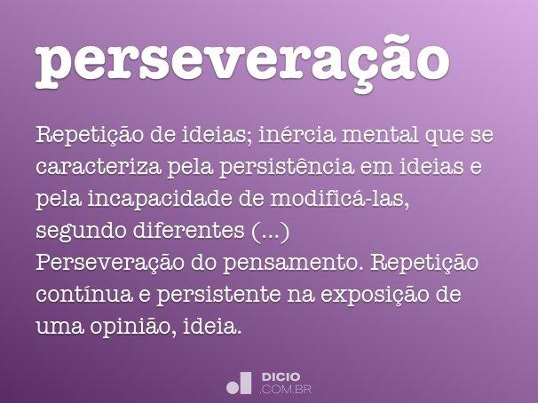 persevera��o