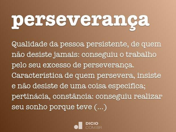 perseveran�a