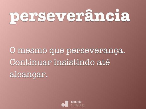 perseverância