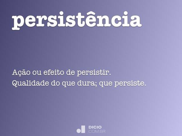 persist�ncia
