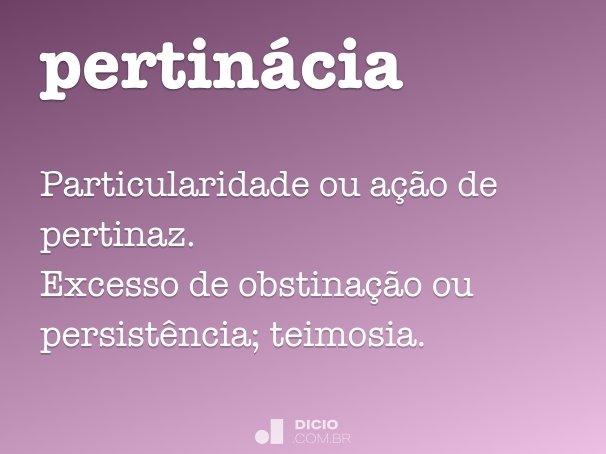 pertin�cia