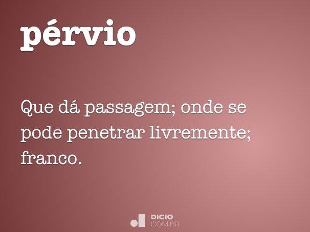 pérvio