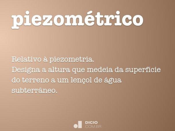 piezom�trico