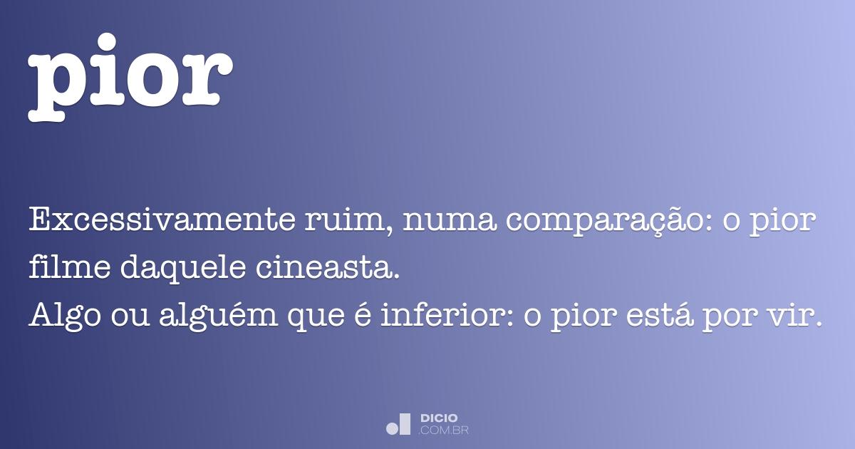 O que significa ruim em portugues