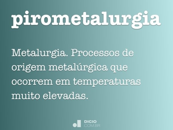 pirometalurgia