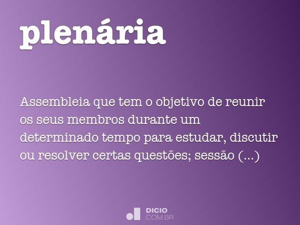 plen�ria