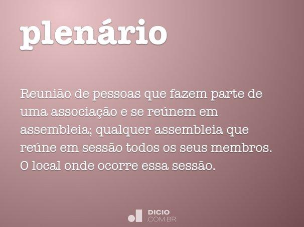 plen�rio