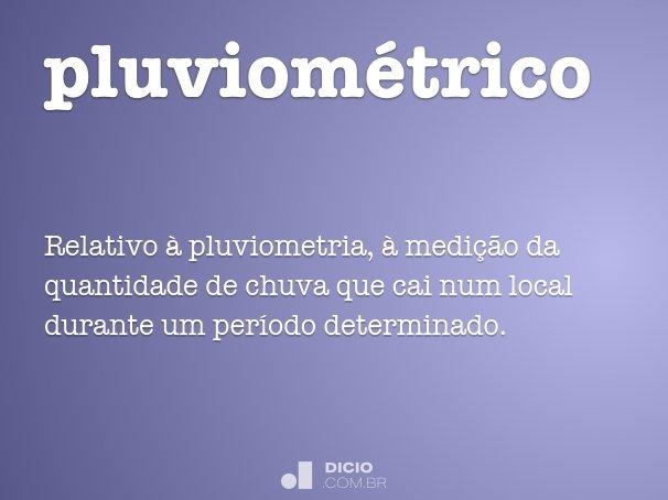 pluviométrico