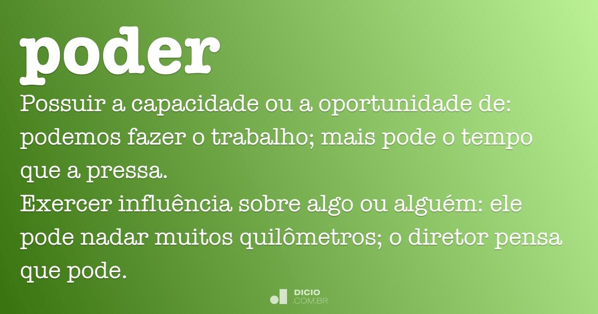 Poder Dicio Dicionário Online De Português