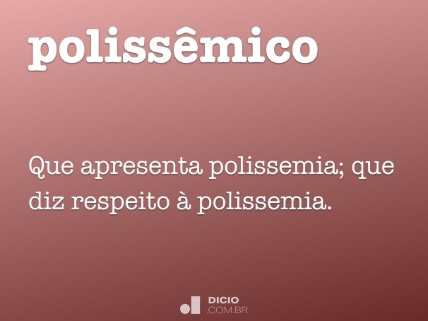 polissêmico