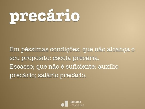 prec�rio