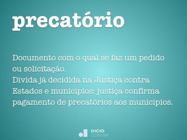 precat�rio
