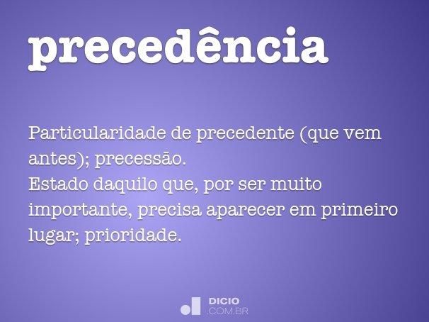 preced�ncia