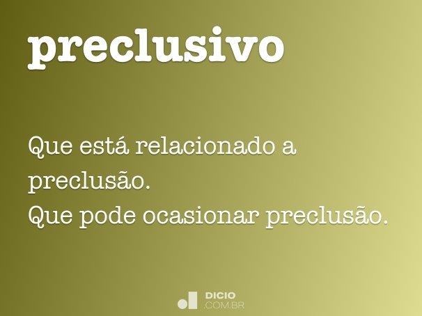 preclusivo