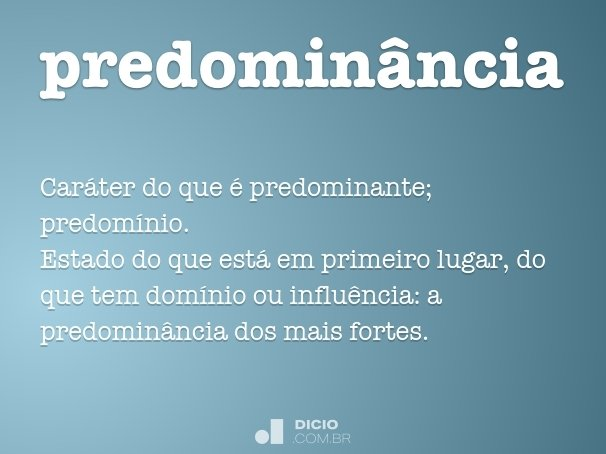 predominância
