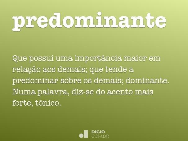predominante