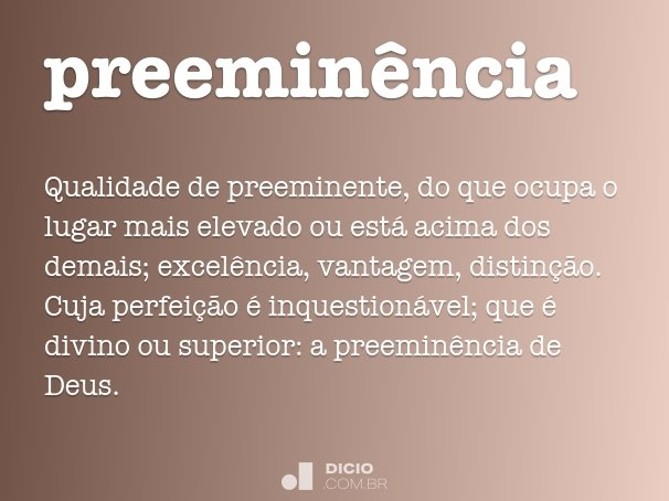 preemin�ncia