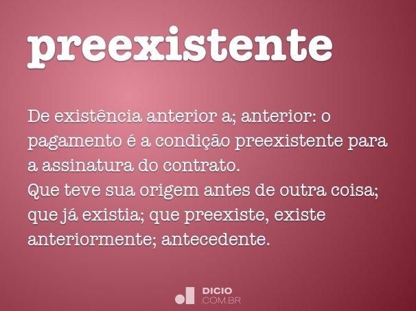preexistente