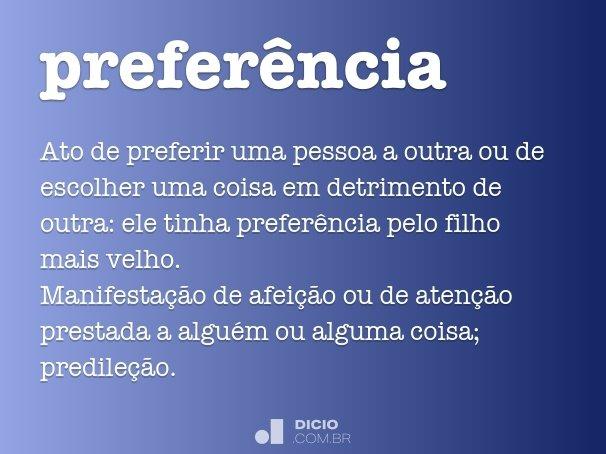 preferência