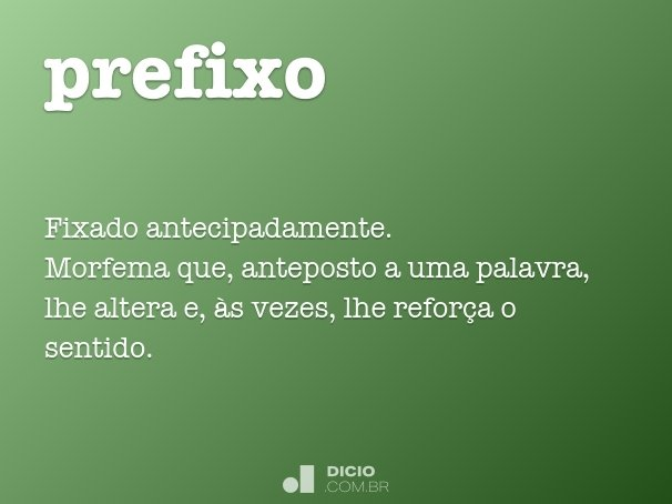 prefixo